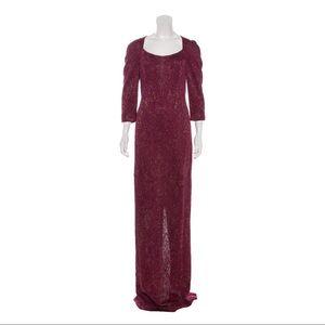 ST. JOHN Sparkle Knit Wool Blend Evening Gown 8